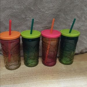 Other - New Tropical Tumblers with Straws